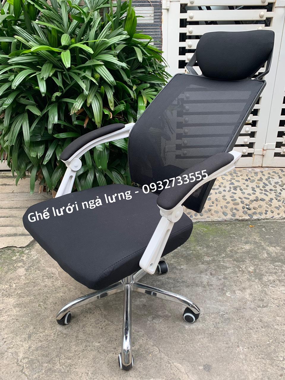 Ghế văn phòng lưng lưới ngả nằm thư giãn : KG – B202