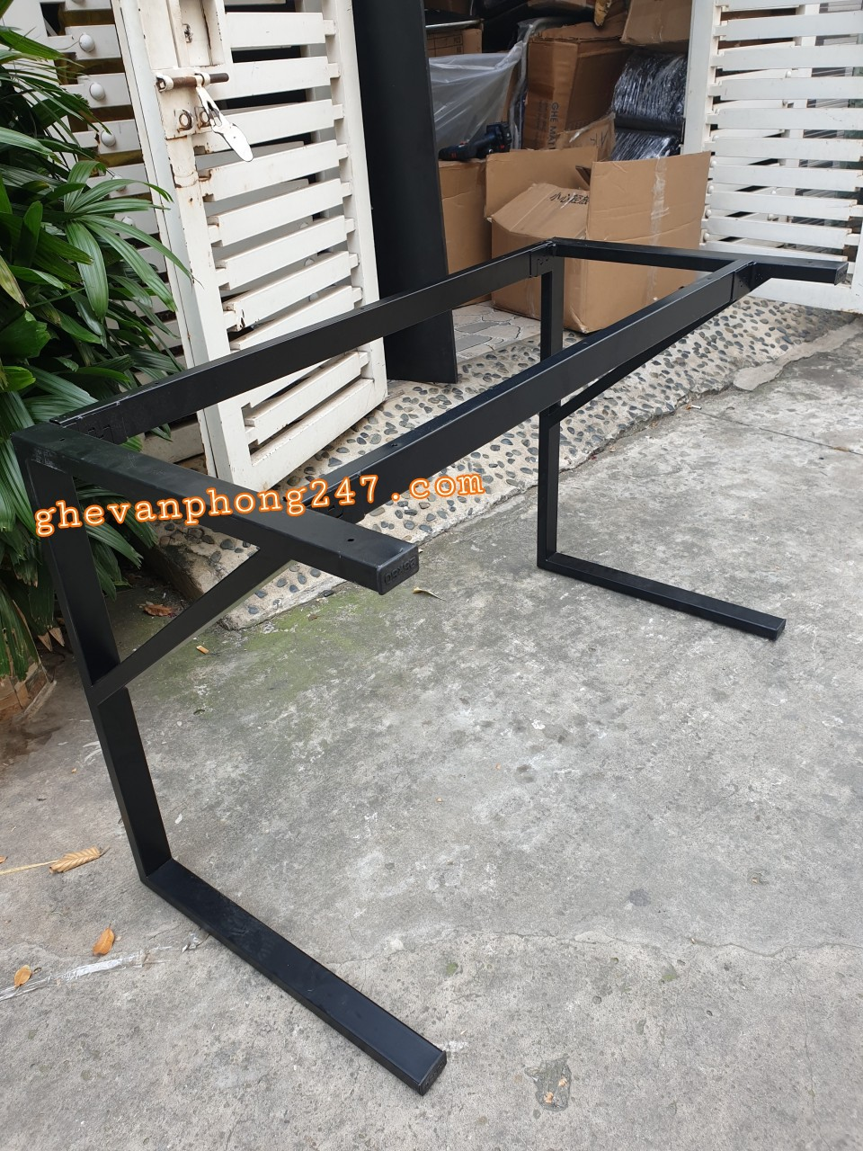 Chân bàn làm việc chữ K lắp ráp giá rẻ : K120-60