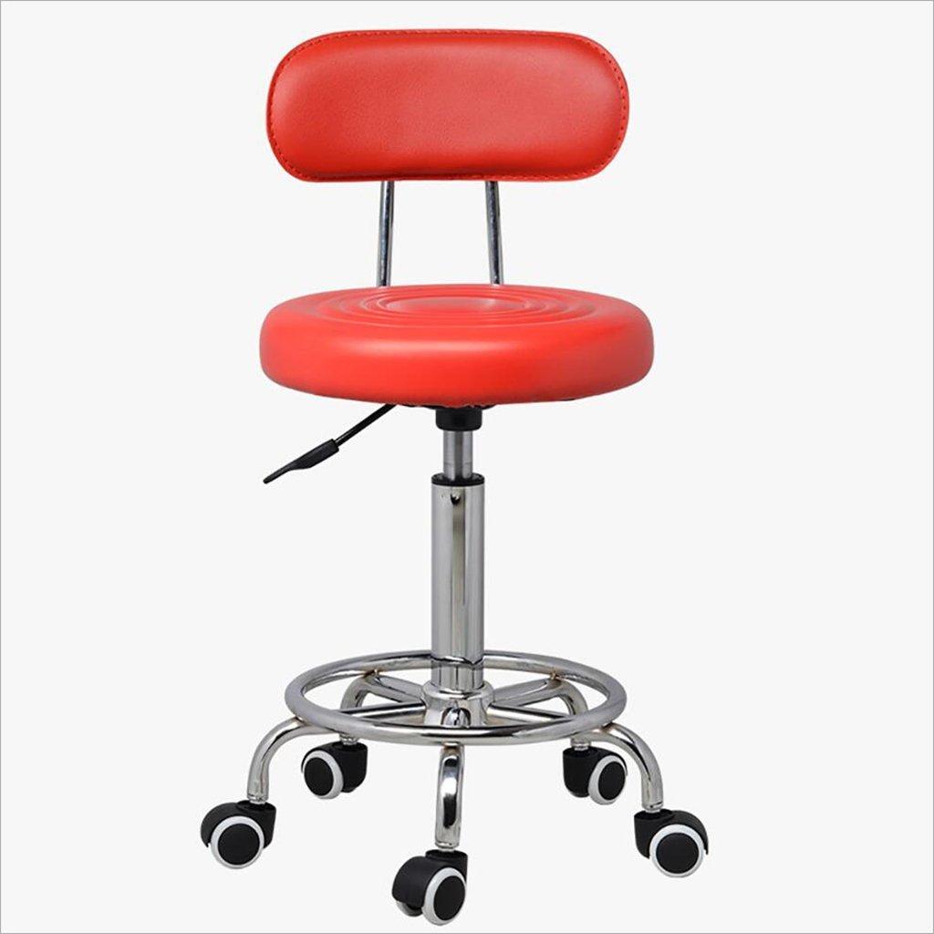 Ghế quầy thấp có lưng chân sao có bánh xe KG-010-5