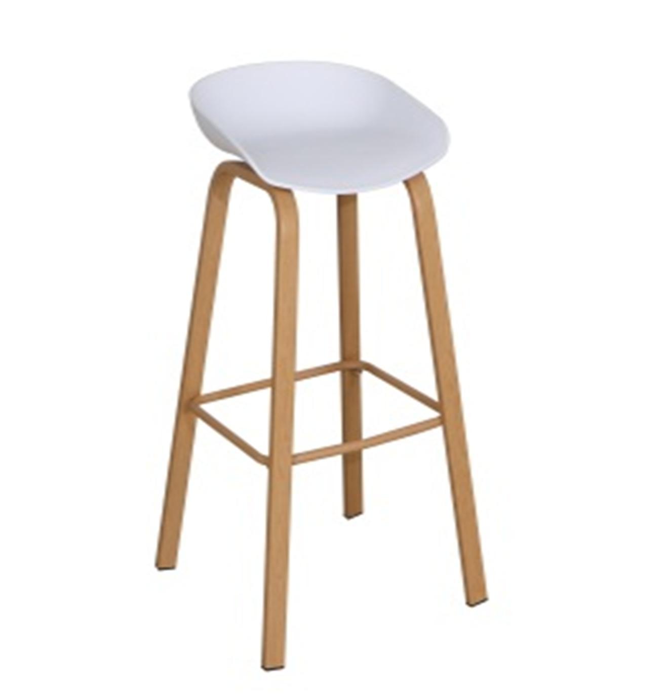 Ghế bar cao chân thép sơn tĩnh điện đen KG-0711