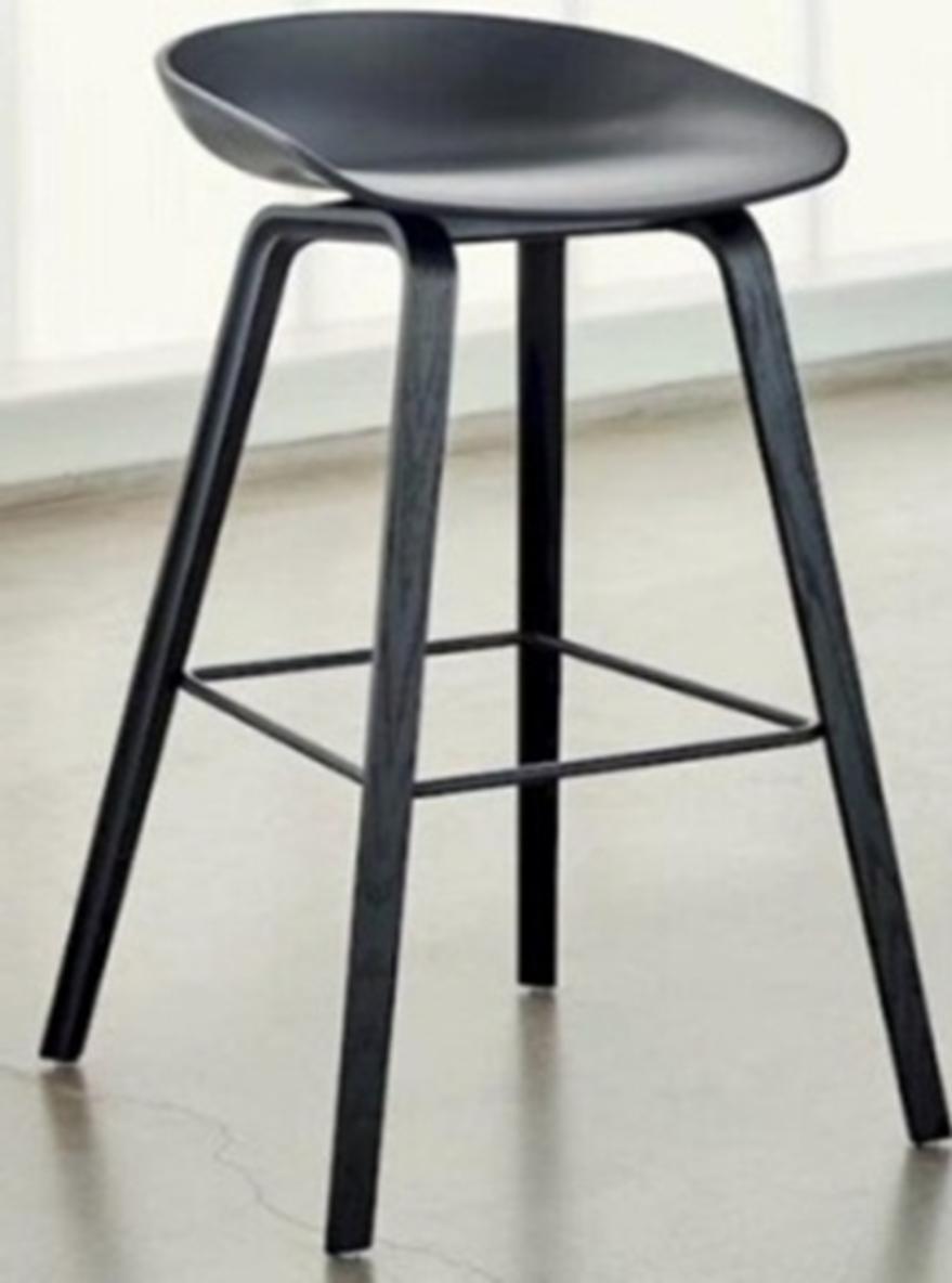 Ghế bar chân sắt giả gỗ mặt nhựa PP GB-0711A