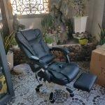 Ghế văn phòng bọc da cao cấp massage 7 điểm, ngả lưng, kê chân thư giãn, ngủ trưa tiện dụng, sang trọng : Mã – 199A