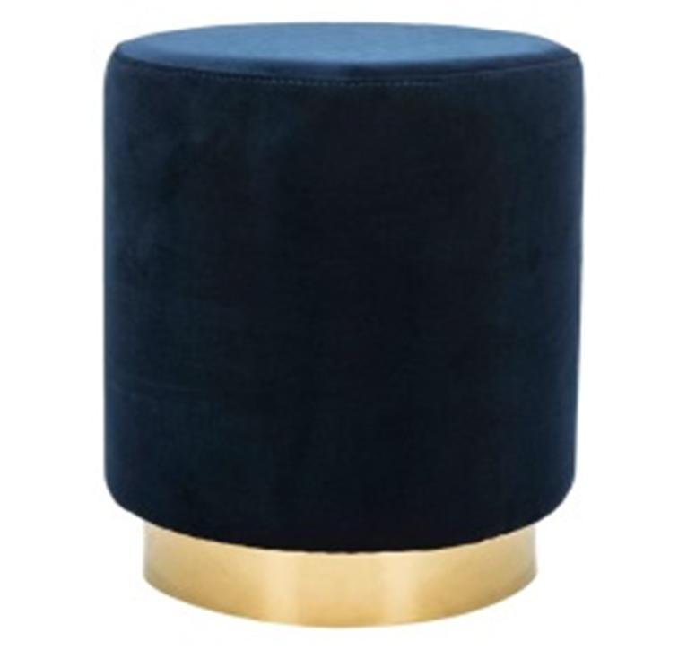 Ghế đôn vải nhung, khung thép mạ vàng Mã KG-0339