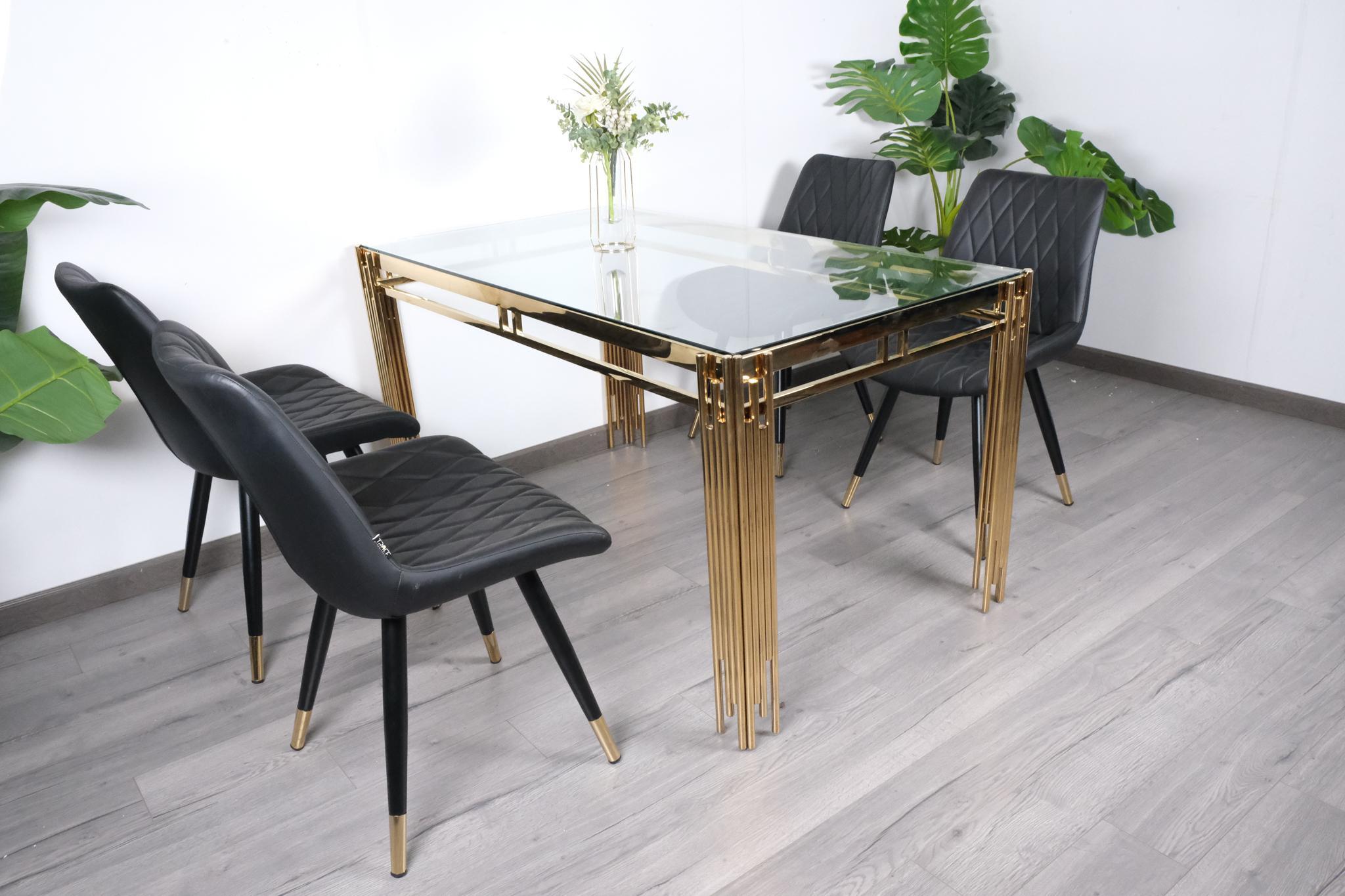 Bộ bàn ăn 4 ghế đẹp hiện đại, sang trọng : KG – T148-44