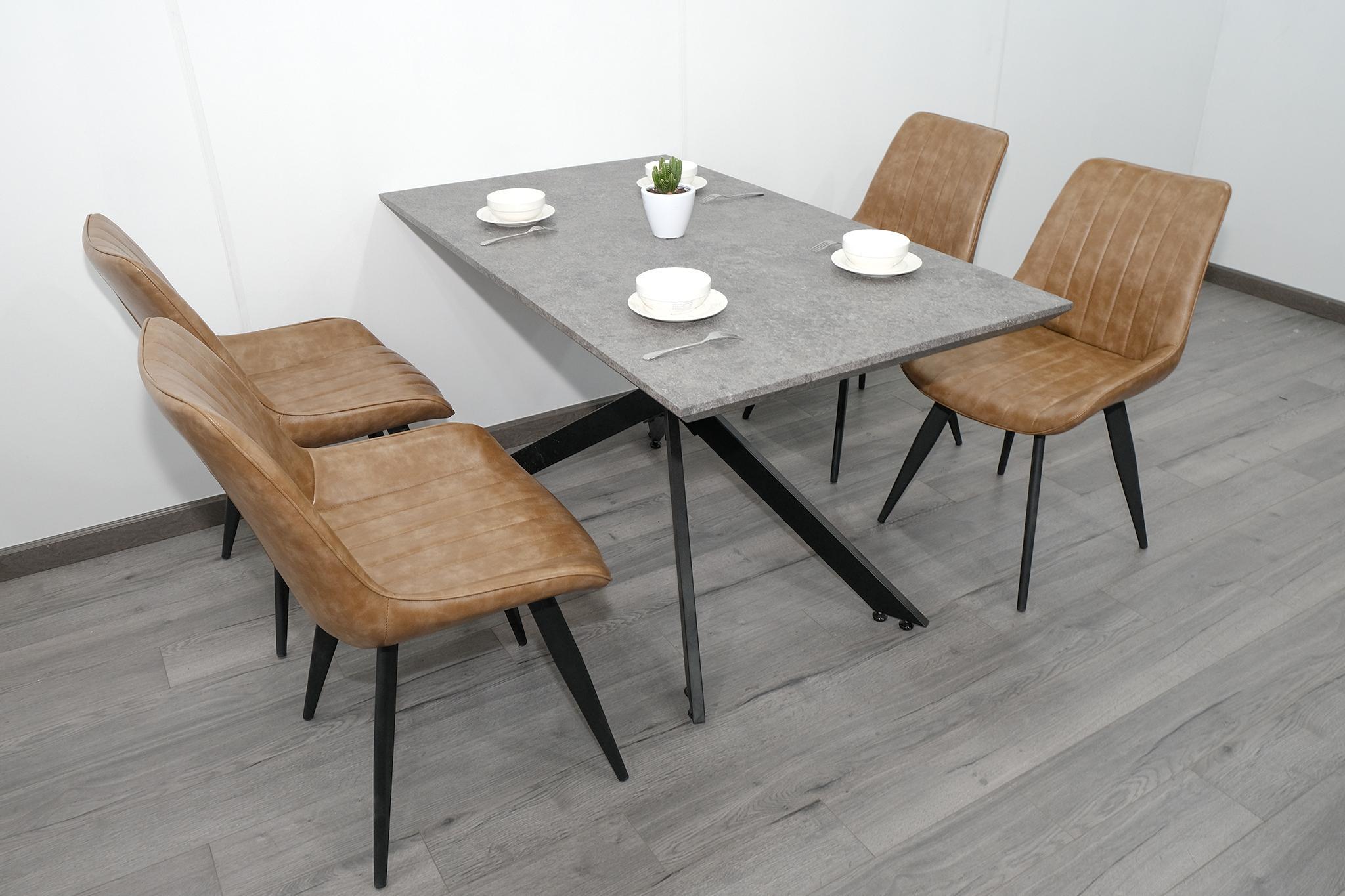 Bộ bàn ăn 4 ghế nhập khẩu hiện đại : KG –  T133-4