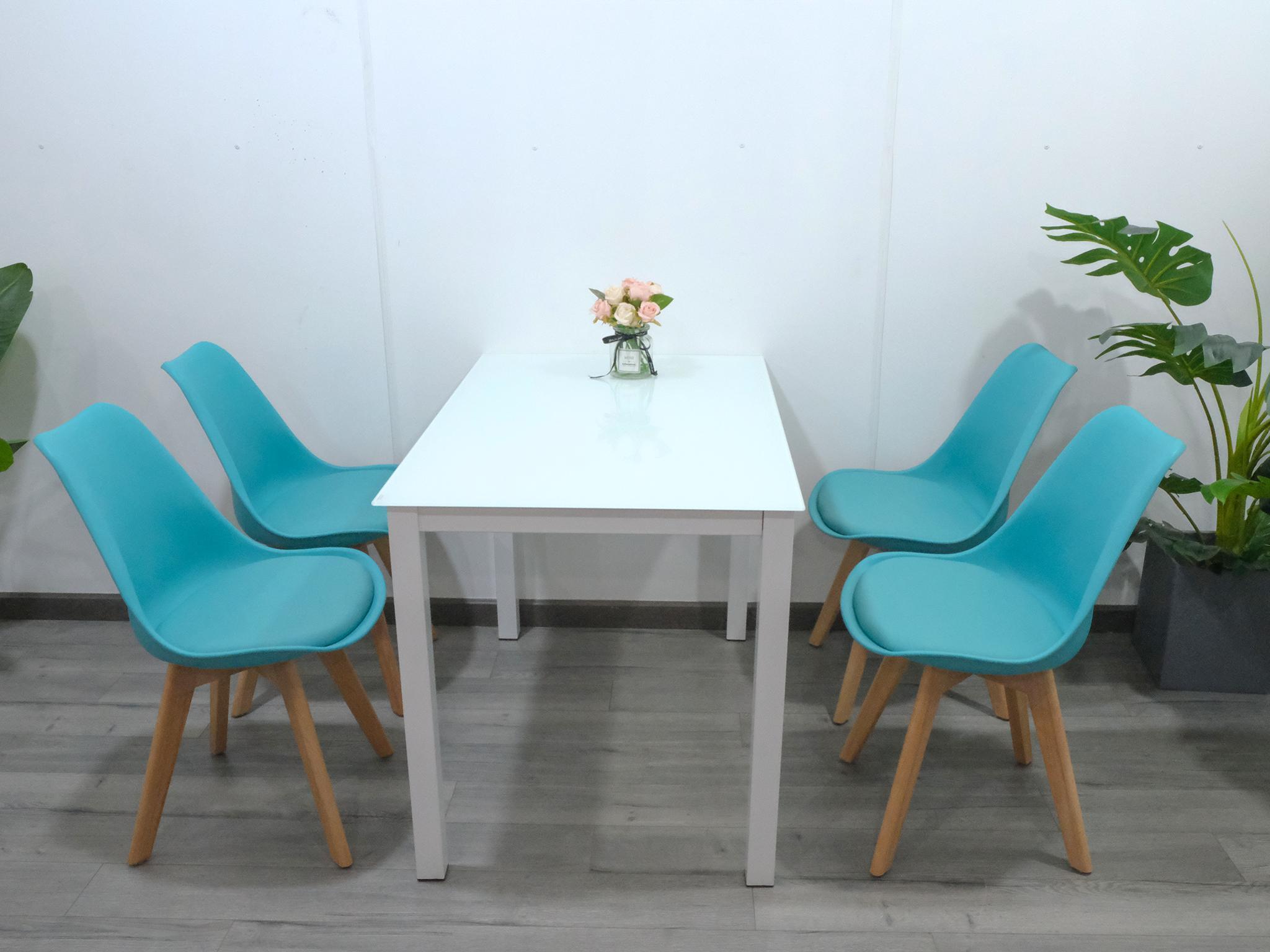 Combo bàn ghế ăn 4 người và ghế ngồi có đệm : KG – T155x4