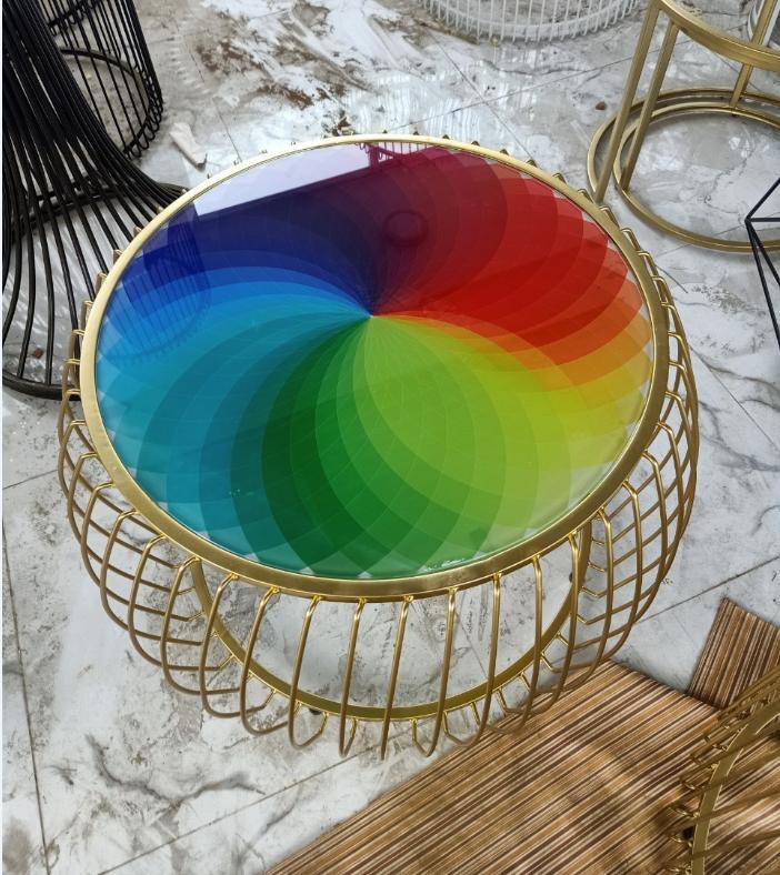 Bàn trà – bàn sofa mặt kính nhiều màu TPHCM : KG – S176