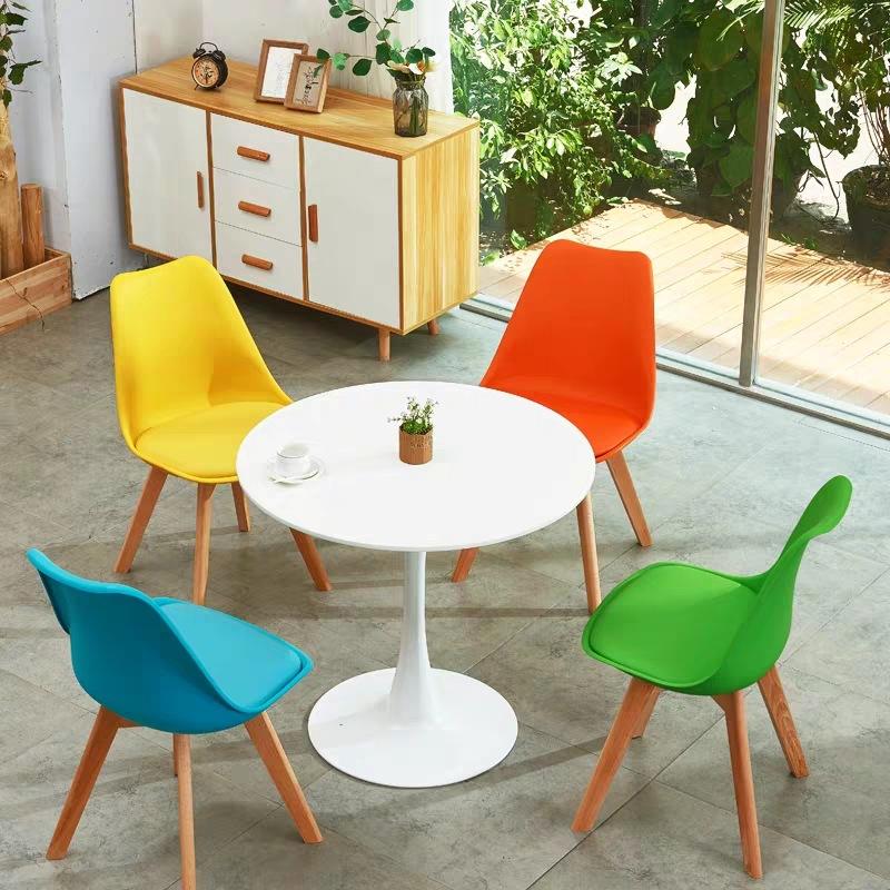 Bộ bàn tròn 4 ghế tiếp khách cho văn phòng : KG – T117-4