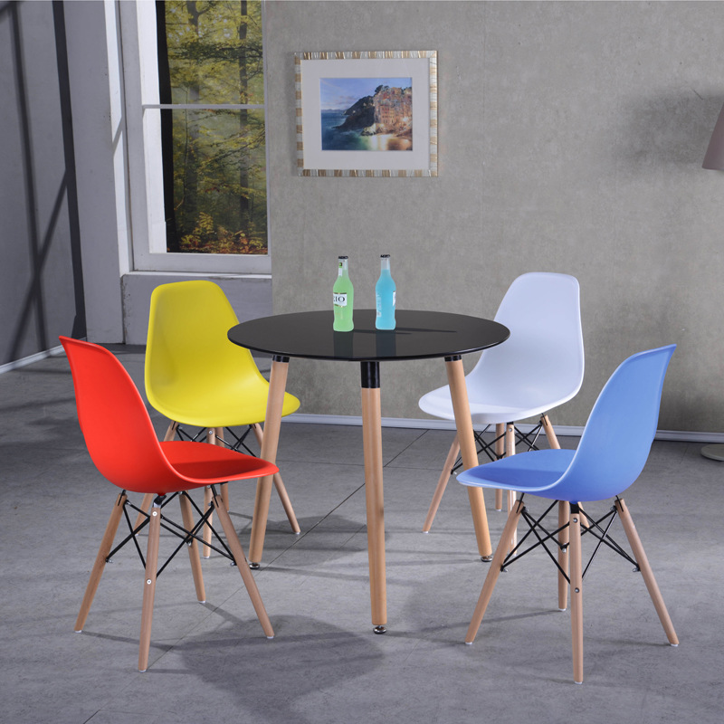 Bộ bàn tròn 4 ghế tiếp khách giá rẻ : KG – T105-4
