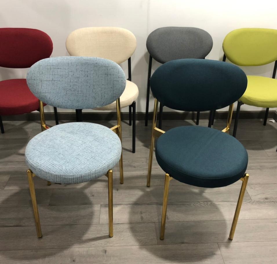 Ghế ăn – ghế cafe chân sắt sơn tĩnh điện : KG – E202