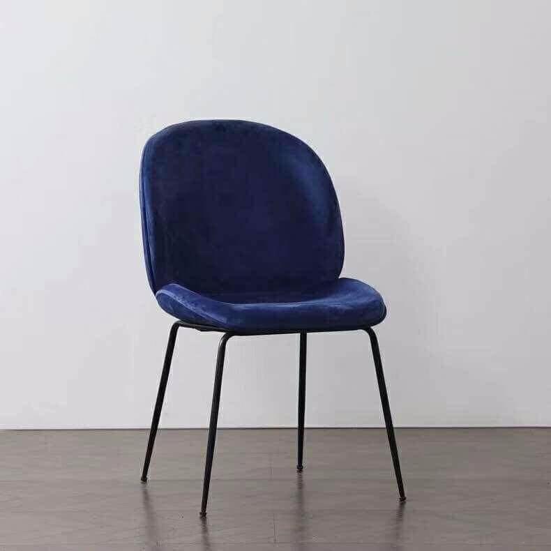 Ghế ăn nệm bọc vải nhung chân sắt sơn tĩnh điện : KG – E233N