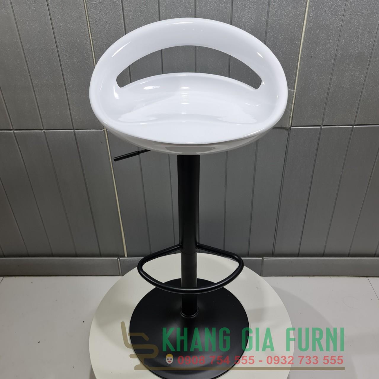 Ghế bar chân sắt sơn tĩnh điện bền đẹp Khang Gia : KG – D092