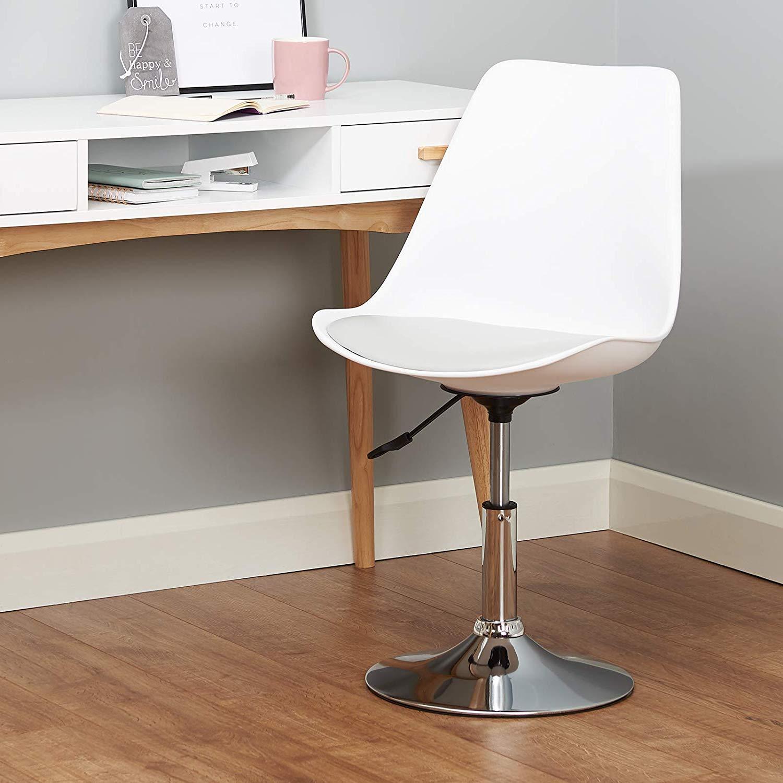Ghế cafe, ghế ăn nhựa lót nệm chân trụ thấp : KG – E201L