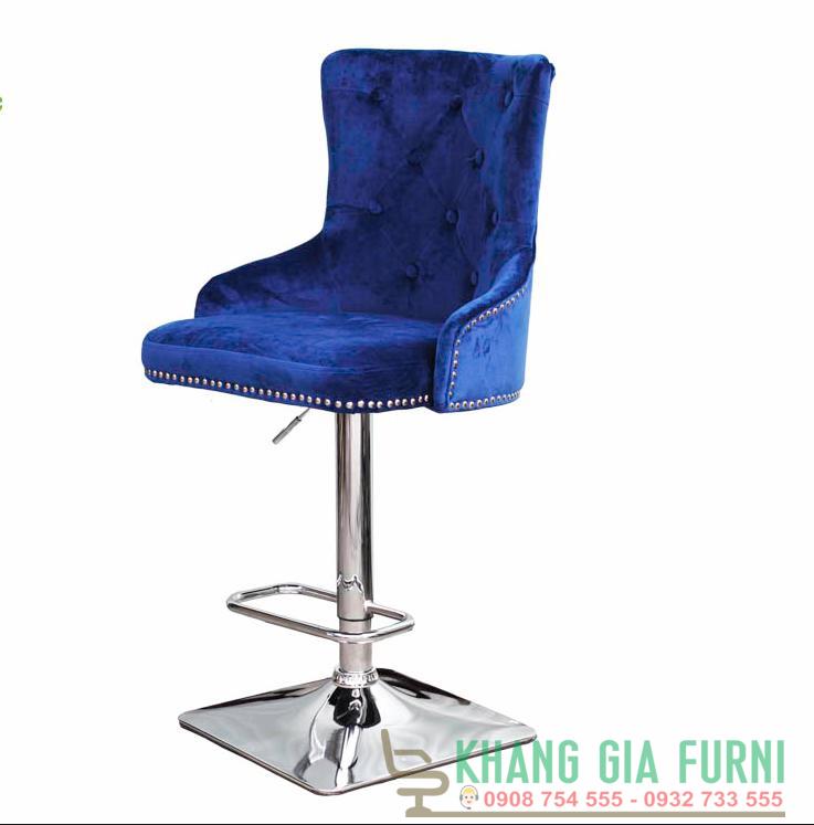Ghế quầy Bar bọc nhung phong cách cổ điển KG – 451