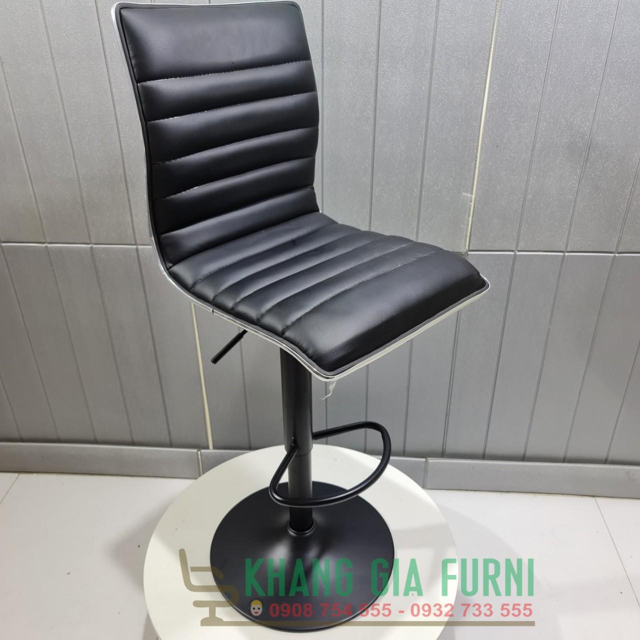 Ghế quầy bar chân sắt nệm ngồi êm tự lưng cao : KG – B1064