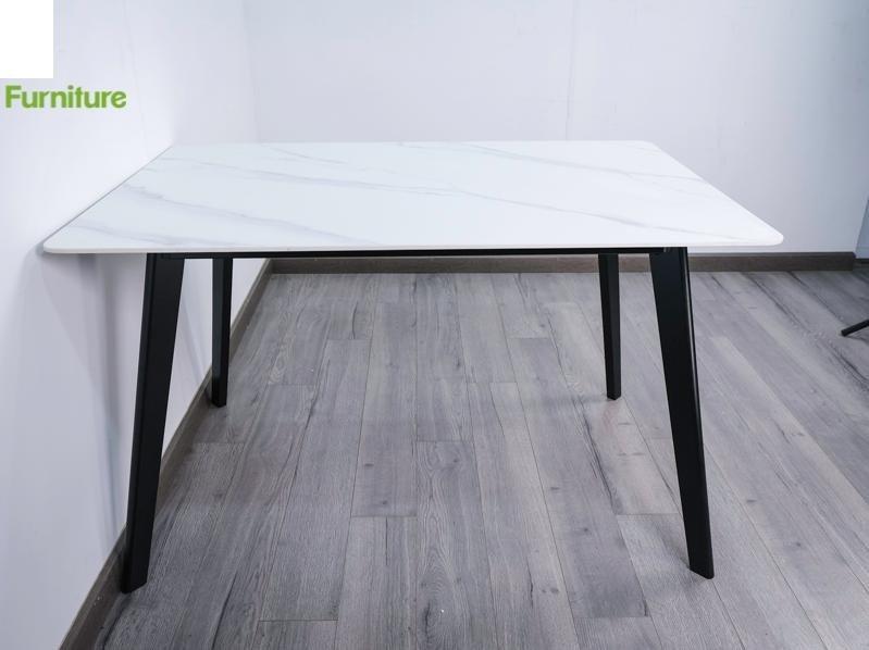 BÀN ASTER T252-14 CHÂN GỖ MẶT ĐÁ THIÊU KẾT 80×140