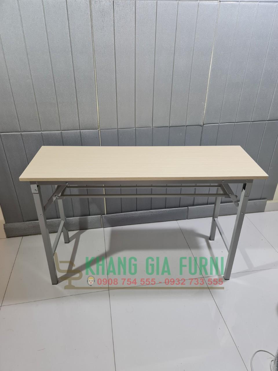 Bàn học – bàn làm việc chân gấp 120 x 40 : BOV1240