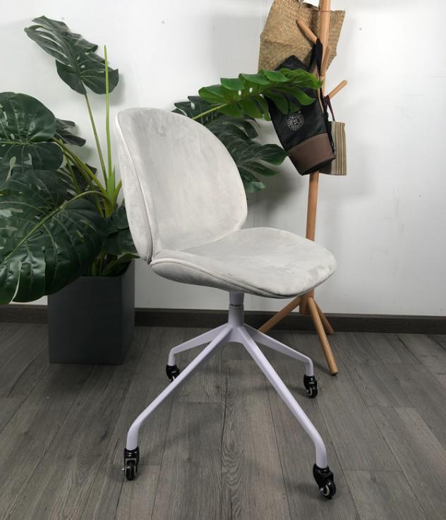 Ghế BEETLE chân xoay nệm ngồi vải nhung : KG – AF360