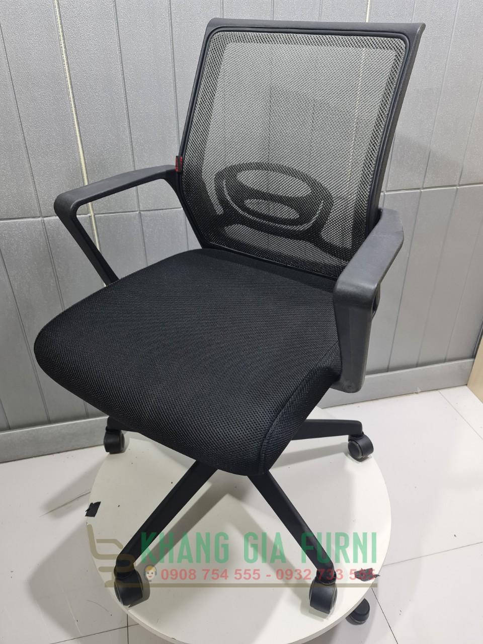 Ghế lưới văn phòng chân nhựa màu theo yêu cầu : KG – 131-1