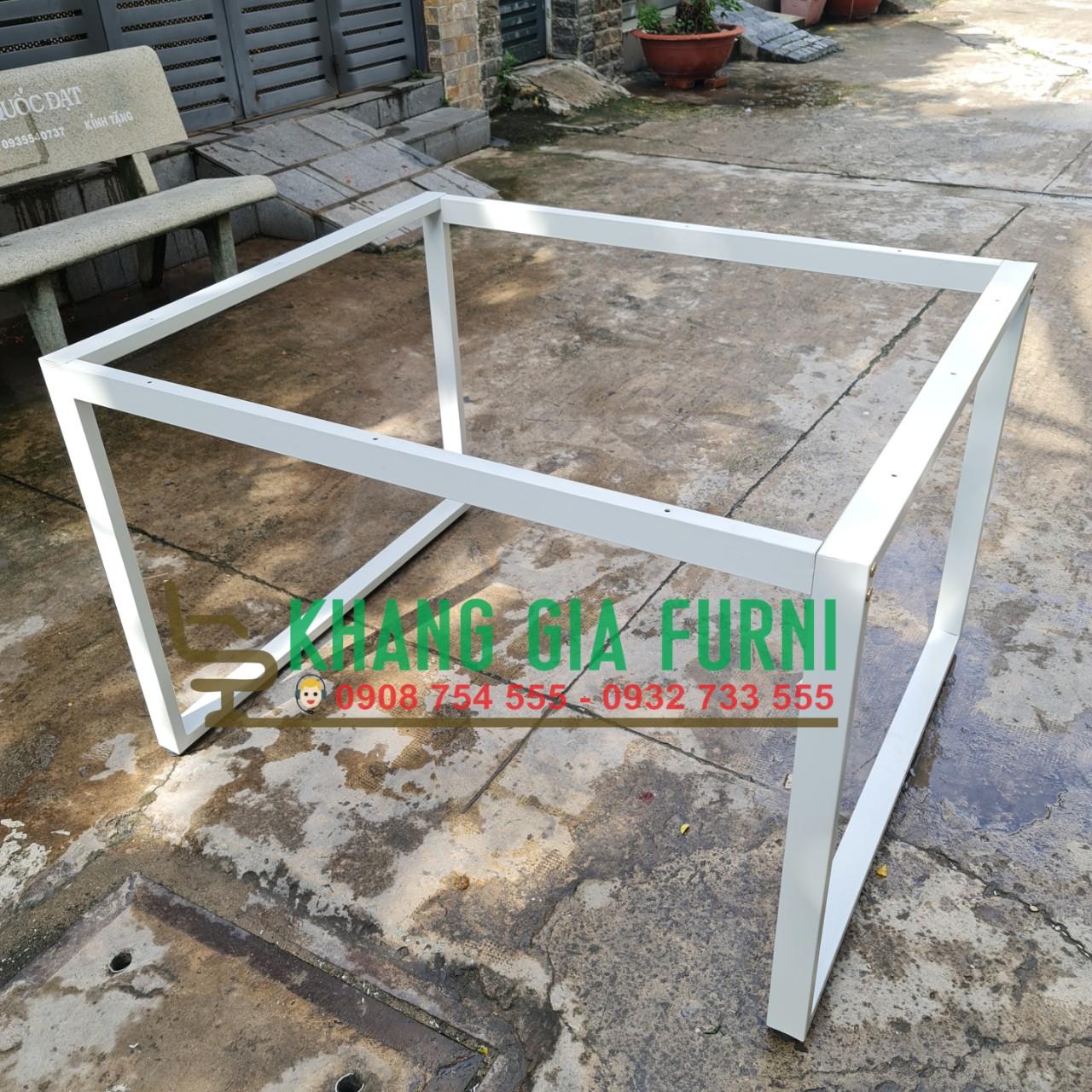 Khung bàn 120×120 chân sắt lắp ráp : KG – KB120
