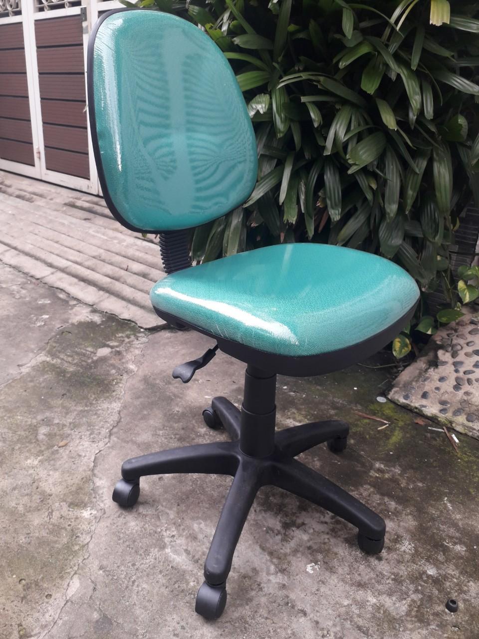 Ghế văn phòng không tay KG- 028 xanh ngọc