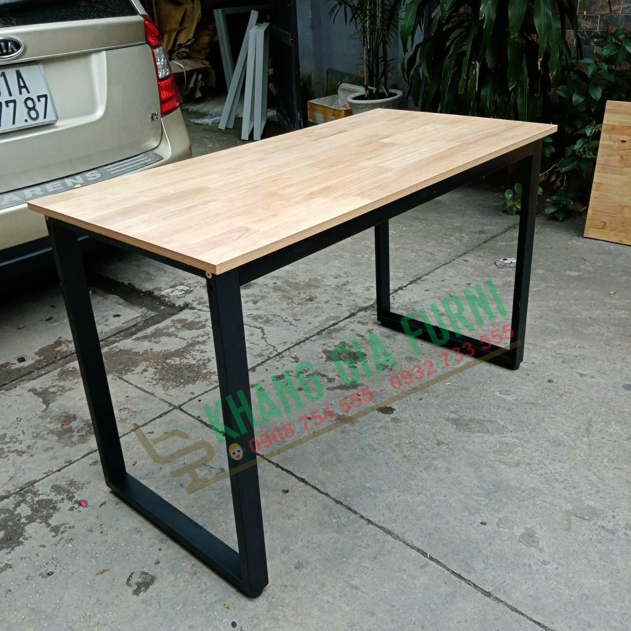 Bàn làm việc mặt gỗ AA 120 x 60 : U120 x 60