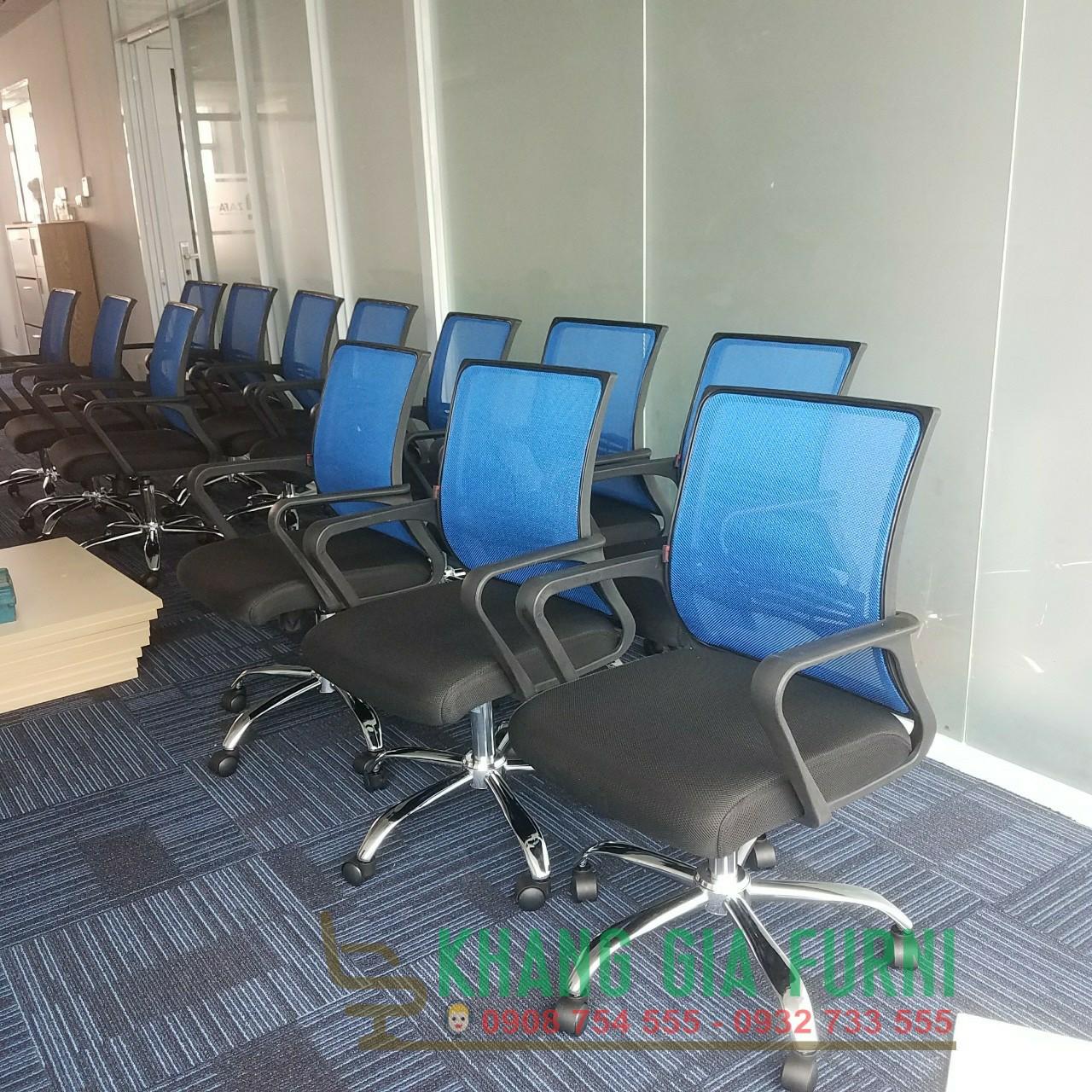 Ghế xoay lưới văn phòng màu theo yêu cầu